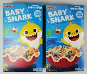 2 Kellog's Baby Shark Cereal Berry Limited Edition 13.2 OZ