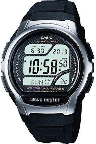 Casio Wave Ceptor Men's Resin Strap Digital Watch WV-58U-1AVEF