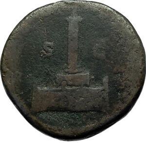 Divus-ANTONINUS-PIUS-Column-161AD-Rome-Sestertius-Rare-Ancient-Roman-Coin-i66499