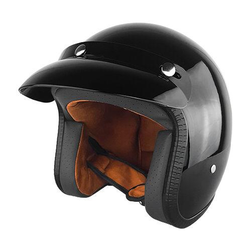 Black Gloss Open Face Helmet