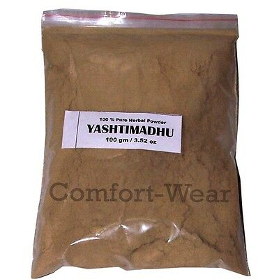 YASHTIMADHU Mulethi Liquorice Powder 100gm/3.53oz