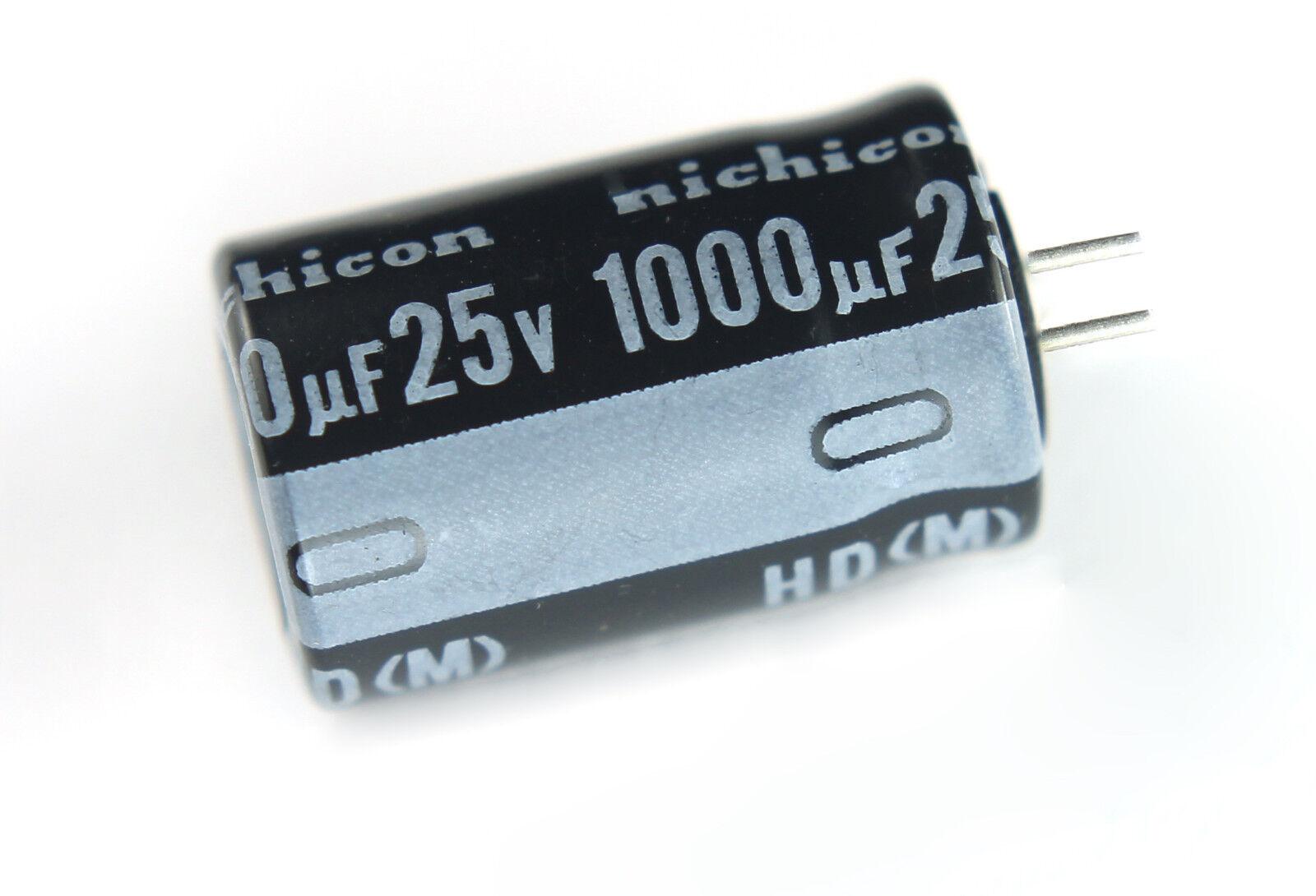Nichicon Elko  UPM1E152MHD6  105° 1500uF  25V Low ESR  16x20mm RM7,5  #BP 4 pcs