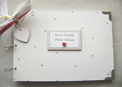 NAN/'S//GRANDMA/'S MEMORIES FAMILY .PHOTO ALBUM//SCRAPBOOK//MEMORY BOOK. A4 SIZE