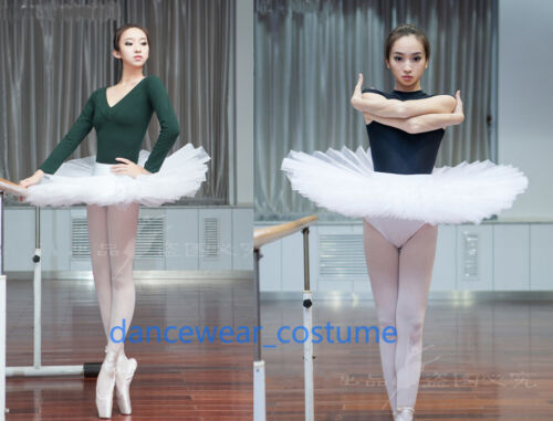 Ladies Professional Ballet Costume Tutu 6Layers Hard Organdy Platter Skirt Tutu