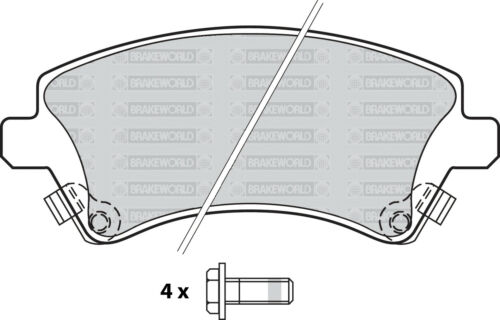 REAR DISCS PADS FOR TOYOTA COROLLA 2.0 TD CDE120 2002-07 OPT2 OEM SPEC FRONT