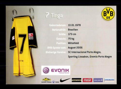 A 185254 Tinga Autogrammkarte Borussia Dortmund 2007-08 Original