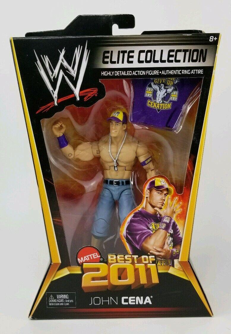 WWE JOHN CENA Best of 2011 Elite Wrestling Figure w  NEVER GIVE UP Shirt W6 NEW