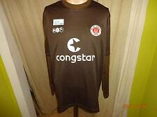 """FC St.Pauli DoYou Football Langarm Spieler Trikot 2008/09 """"Congstar"""" Gr.XL Neu"""