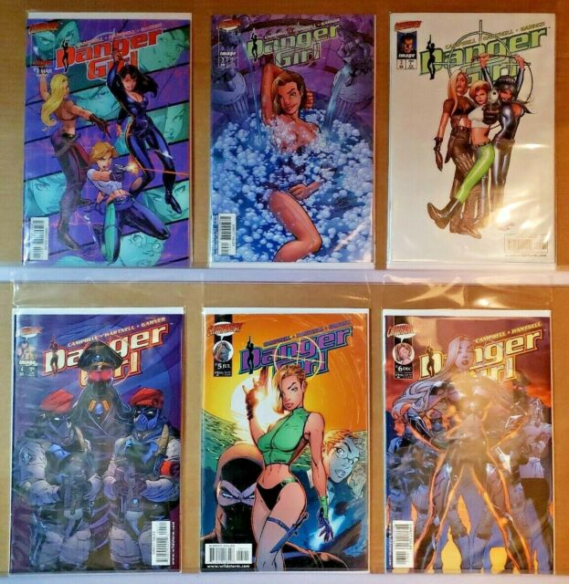Danger Girl #'s 1 2 3 4 5 6 Cliffhanger IMAGE COMICS Campbell  VF+/NM  (E367)
