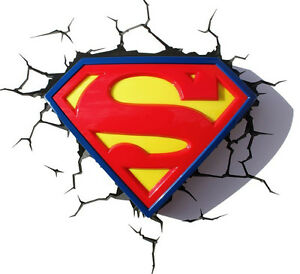 3dfx superman s shield logo 3d deco wall light ebay