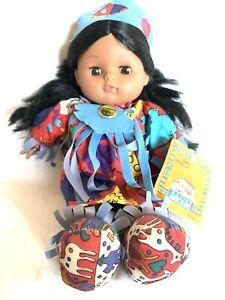 Gi-Go-Toys-Vintage-Native-American-Doll-Soft-Plush-Dolls-Tribal-Collectible