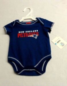 5adaae87 Details about Official New England Patriots Baby Kids One-sie Shirt Size 3  to 6 Months Blue