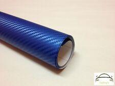 1.2m x 1.5m 3D Blue Carbon Fibre Vinyl Wrap Adhesive Decal Film (Bubble Free)