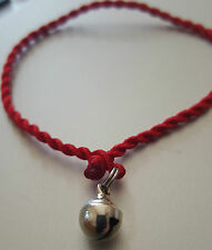 Lucky Bell Mini Red Faith Rope String Protection Red Bracelet Adjustable