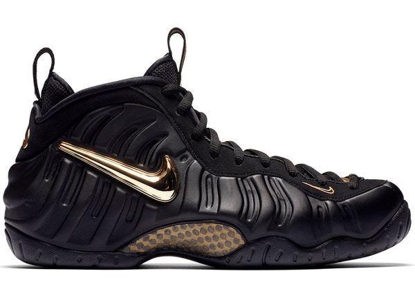 Nike Air Foamposite Pro Black Metallic gold Size 15. 624041-009. Penny