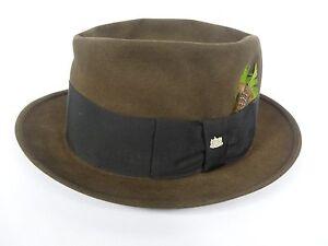 6374dfb7 Vintage Stetson Fedora 3X Beaver Quality Brown Felt Hat Size 6 3/4 ...