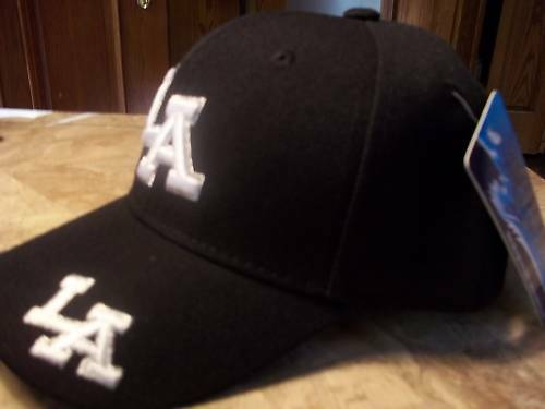 BOYS CHILDRENS BLACK LA HAT CAP IN BLACK