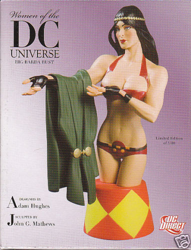SCULPTURE  BIG BARDA  (buste) damen of DC Adam Hugues