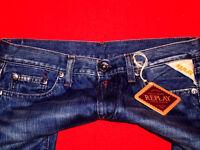 ♥ REPLAY SKINNY JEANS HüftJEANS DESIGNER JEANS NIETEN Jeans W27 L32 NEU TOP!!!