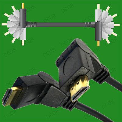 Bello 4x 1.5m 90 ° -180 ° Regolabile Angolo Cavo Hdmi 1080p Hdtv Cielo Bluray Ps3 Xbox- Sii Amichevole In Uso