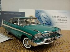 FRANKLIN MINT 1958 PLYMOUTH BELVEDERE..NIB..1:24.SUPER RARE..LE#202..UNDISPLAYED
