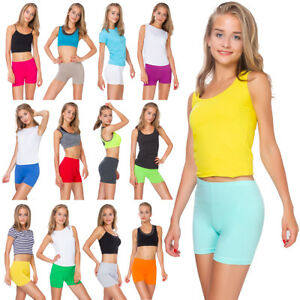 Womens-Cotton-Shorts-Sports-Knickers-Stretchy-Ladies-Leggings-Sizes-8-22-PSL5