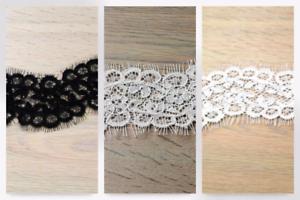 per metre Eyelash Corded Edging Couture Bridal Lace Trimming TR//1108//IVO-M