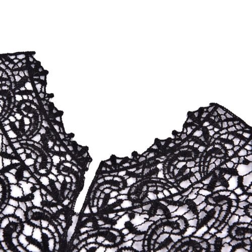 1 PC Applique Lace Fabric Sewing Craft Embellishments Trims DIY Neck Collar S/&K