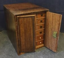 Antique Table Top Chest of Drawers Collectors Engineers Spice Cabinet