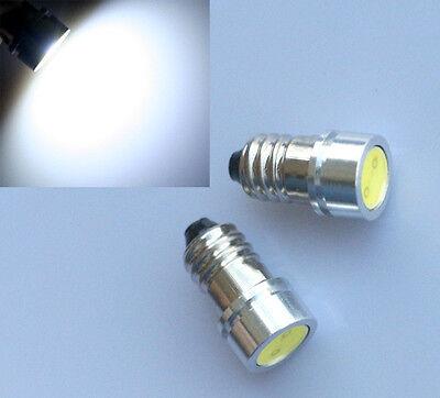 4x SMD LED E10 Lampe Schraubgewinde 6V Volt Xenon weiss Fahrrad COB Typ 1W Power