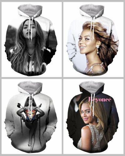New Fashion Women//Men Beyonce 3D Print Casual Hoodies Sweatshirt C05