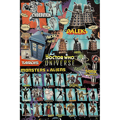 Doctor Who - Comic Characters POSTER 61x91cm NEW * Aliens Universe Sonic Tardis