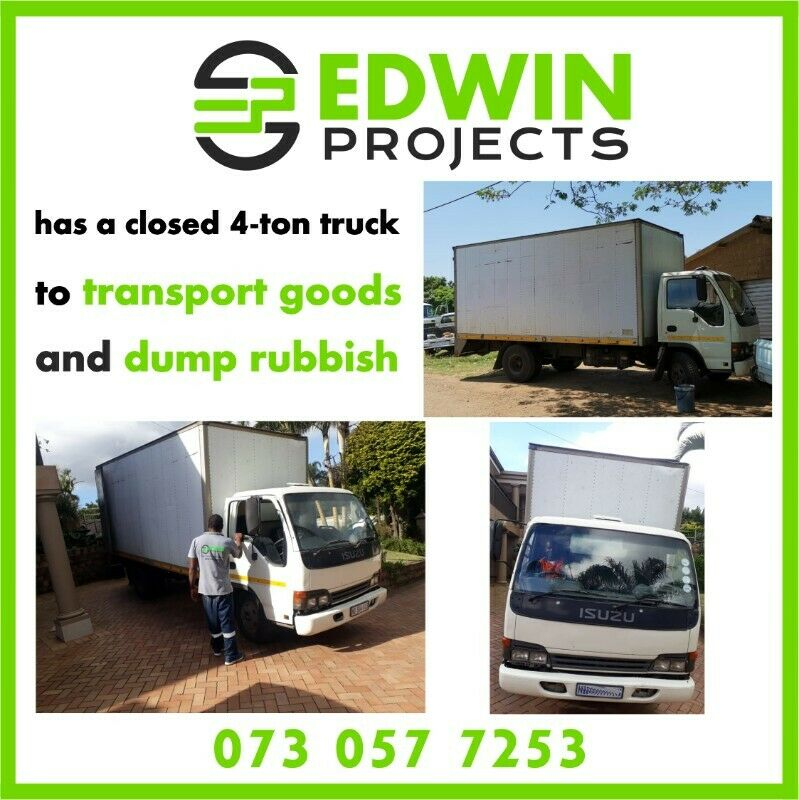 Edwin Projects is ready to dump your rubbish, rubble, and garden refuse