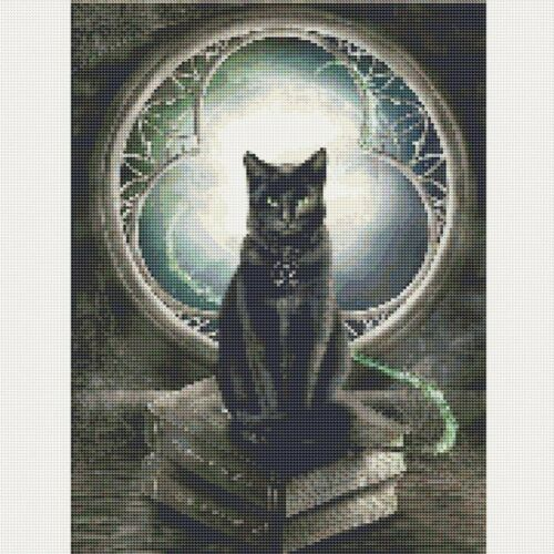 Full Drill DIY 5D Moon Cat Diamond Painting Kits Art Embroidery Home Decors Gift
