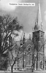 SHELBYVILLE-IN-Indiana-PRESBYTERIAN-CHURCH-c1910-039-s-Postcard