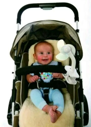 G1 Dreambaby Clip On Stroller Fan Soft Foam Blades Battery Operated White