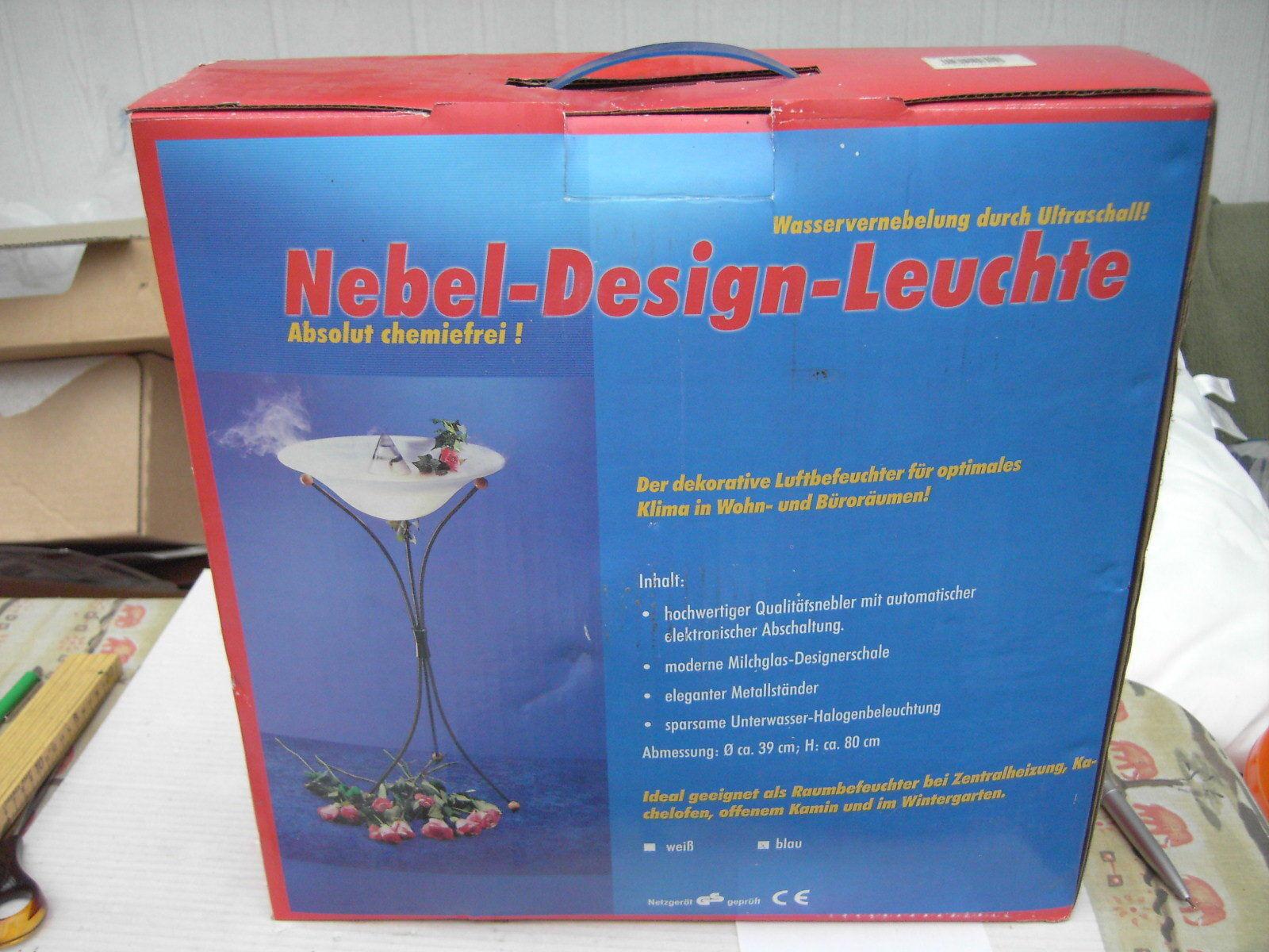 Nebel Design Leuchte und Luftbefeuchter neu ovp ca.  39cm D, 80cm hoch