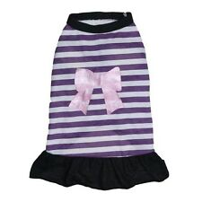 Vestido Vestido Púrpura Cachorro Perro Pequeño Pequeño 22CM Chihuahua Yorkie Teacup ropa XS