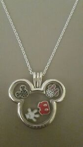 833037bbd Image is loading Pandora-Disney-Mickey-Minnie-Locket-Necklace-With-Petites