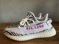 Adidas Yeezy Boost 350 V2 Zebra White Black Red KanyeWest Men's CP9654 AUTHENTIC