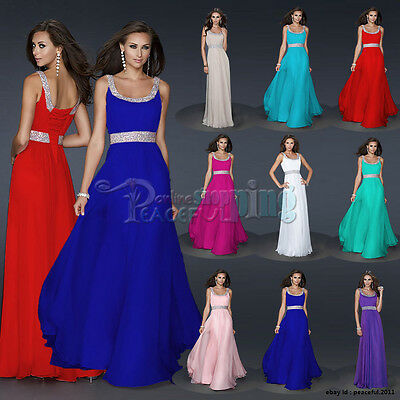 New Long Chiffon Bridesmaid Formal Gown Ball Cocktail Evening Prom Party Dress