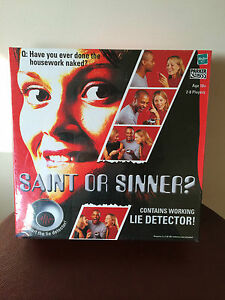 BRAND-NEW-amp-SEALED-ELECTRONIC-SAINT-OR-SINNER-BOARD-GAME-by-HASBRO
