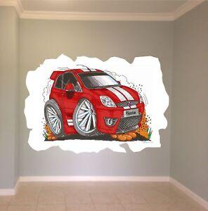 Huge-Koolart-Cartoon-Ford-Fiesta-St-Wall-Sticker-Poster-Mural-2099-Red