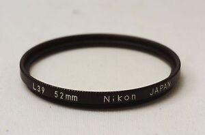 Ship-in-24-Hrs-Nikon-UV-L39-52mm-Black-Rim-Lens-Filter