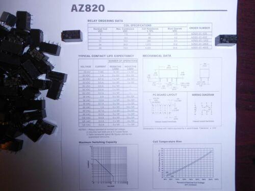 RELAY 12VDC AZ820-2C-14DE  Zettler Relais 2 Stück //pcs