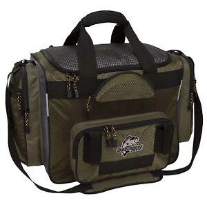 T1200 Fishing Tackle Bag Resistant Fabric 8 Large Utility Bo Storage Pockets