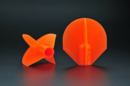 KORDA New Spare MARKER FLIGHTS Black OR Orange 2 Per Pack