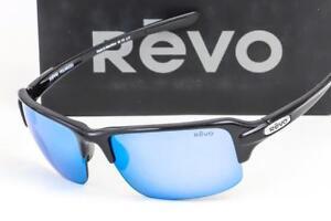 87d14d0f4a NEW REVO ABYSS SUNGLASSES Black   Polarized Blue Water Mirror lens ...