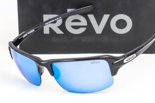 Neuf Revo Abyss Soleil Noir//Polarisé Bleu Eau Miroir Lentille Re 4041X 01
