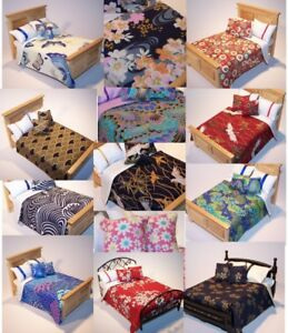 Dolls-House-Bedding-Set-1-12-Handmade-Oriental-Inspired-Patterns-All-sizes